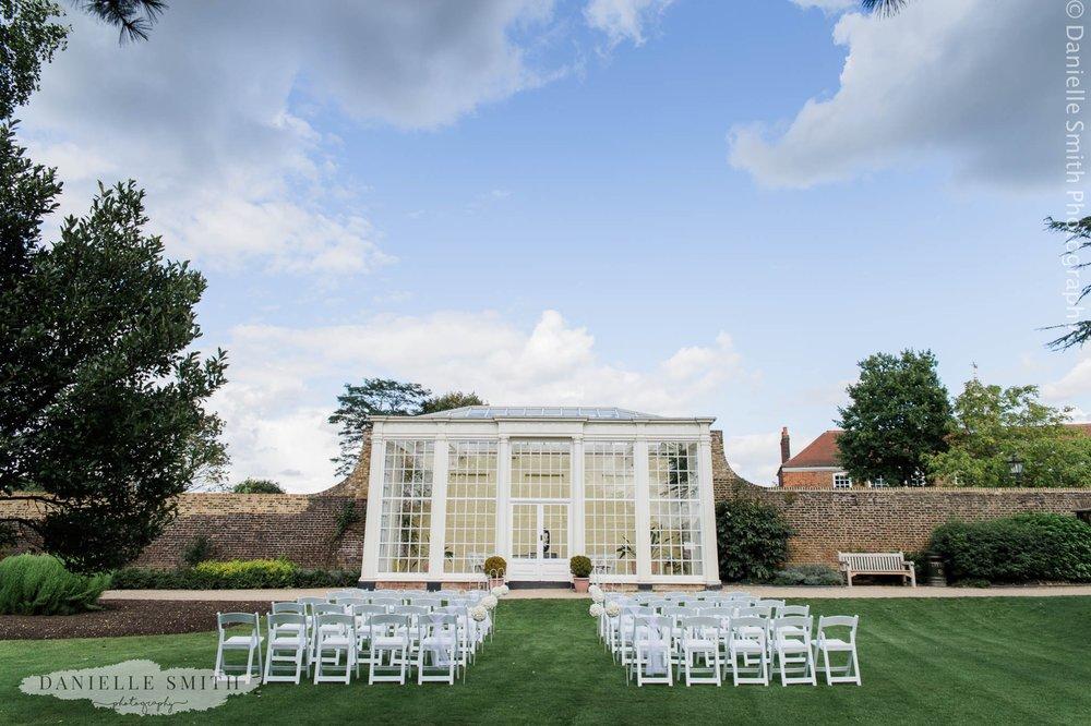 Langtons Orangery - intimate garden wedding