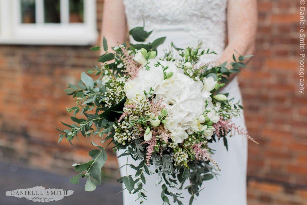 wild floral bouquet - intimate garden wedding