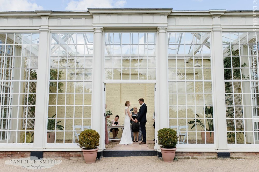 orangery wedding ceremony