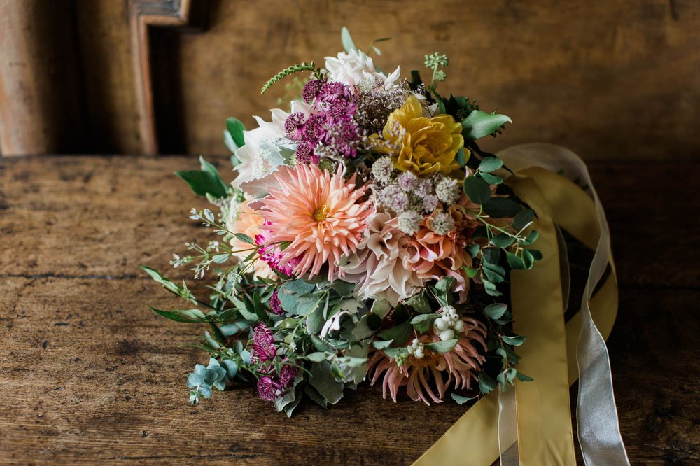 wild flower bouquet wedding