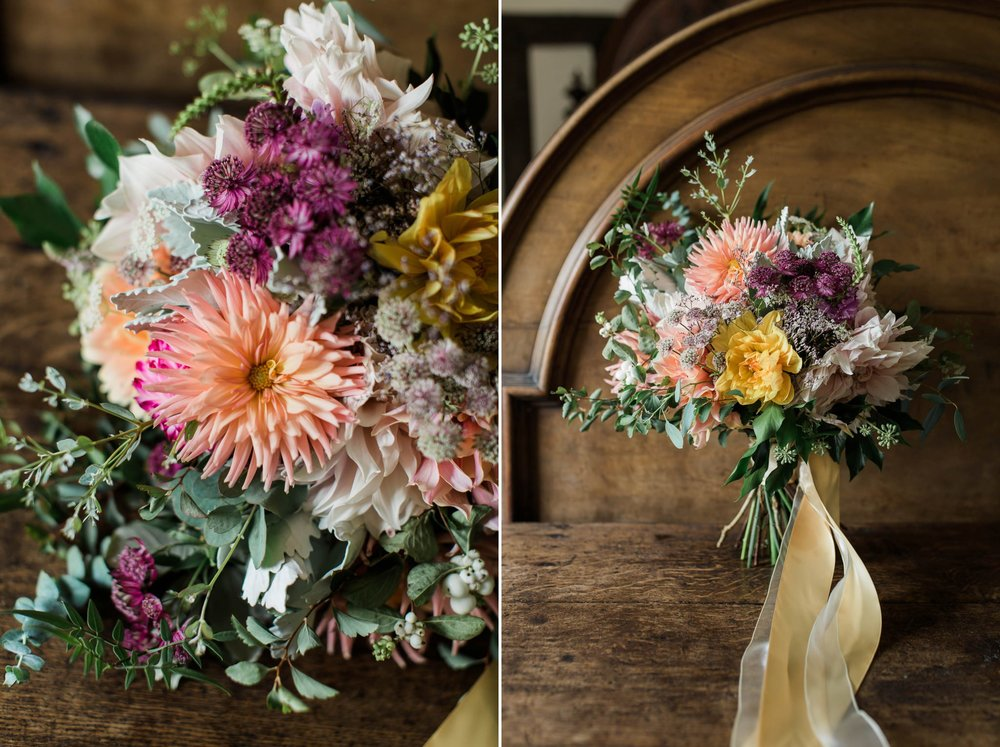 pastel colour wedding bouquet - reid rooms wedding photographer