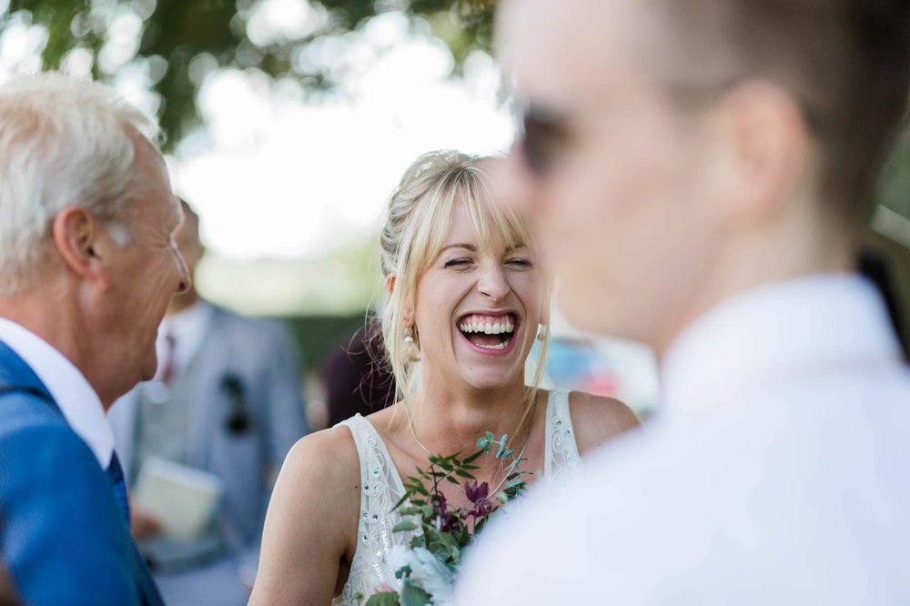 bride laughing - reid rooms wedding photographer