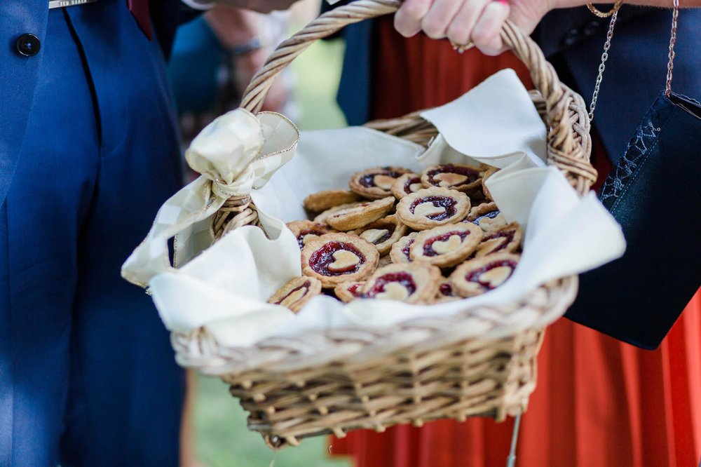 jam tarts in basket