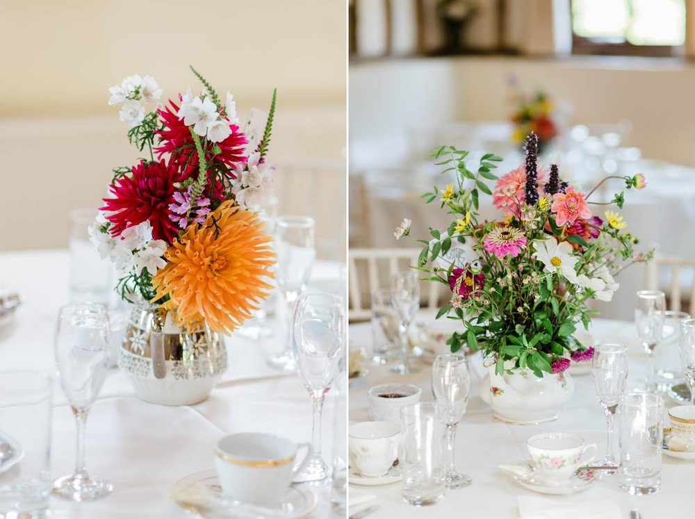 wild flowers on table decor