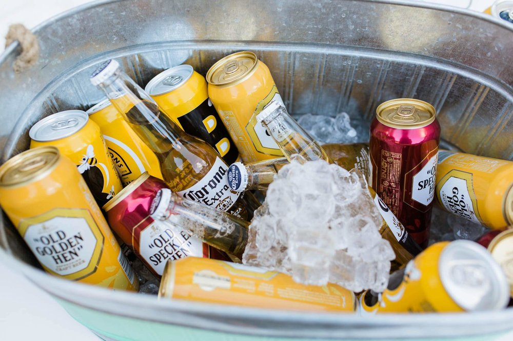beers in ice bucket