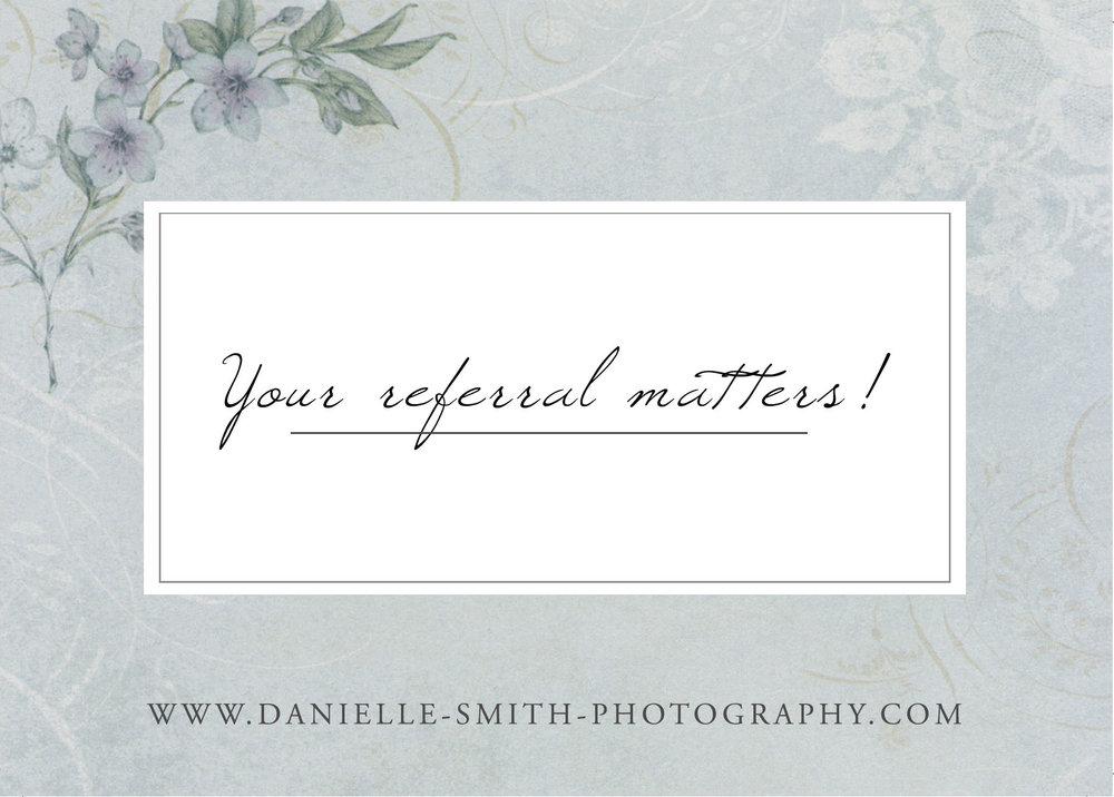 Photography Customer Referral Scheme