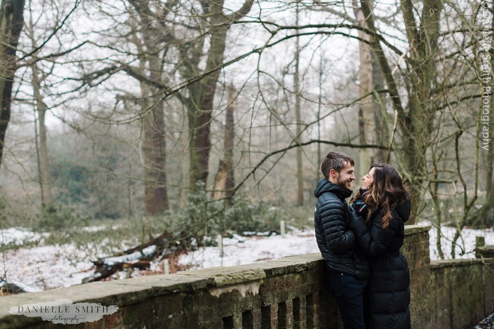 pre-wedding photography hampstead heath - couple laughing