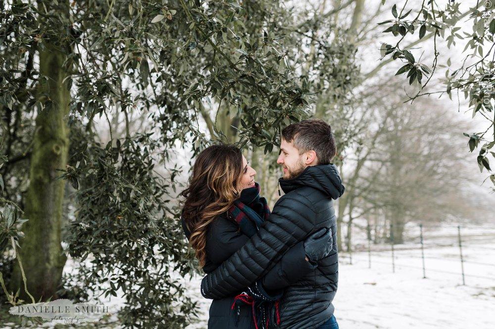 couple hugging - pre-wedding photography hampstead heath
