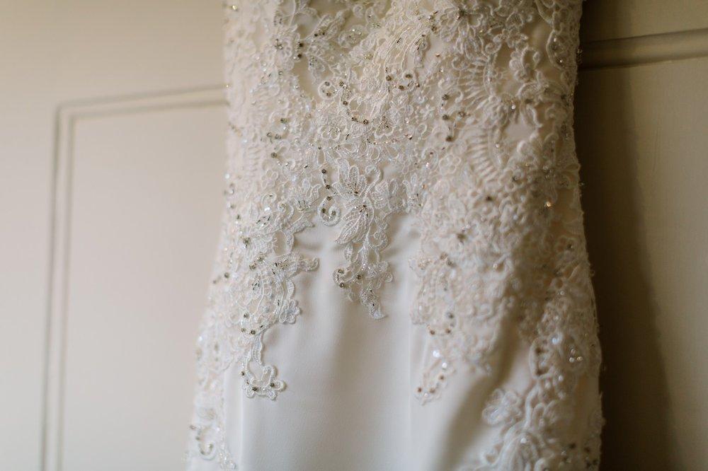 enzoani wedding dress detail