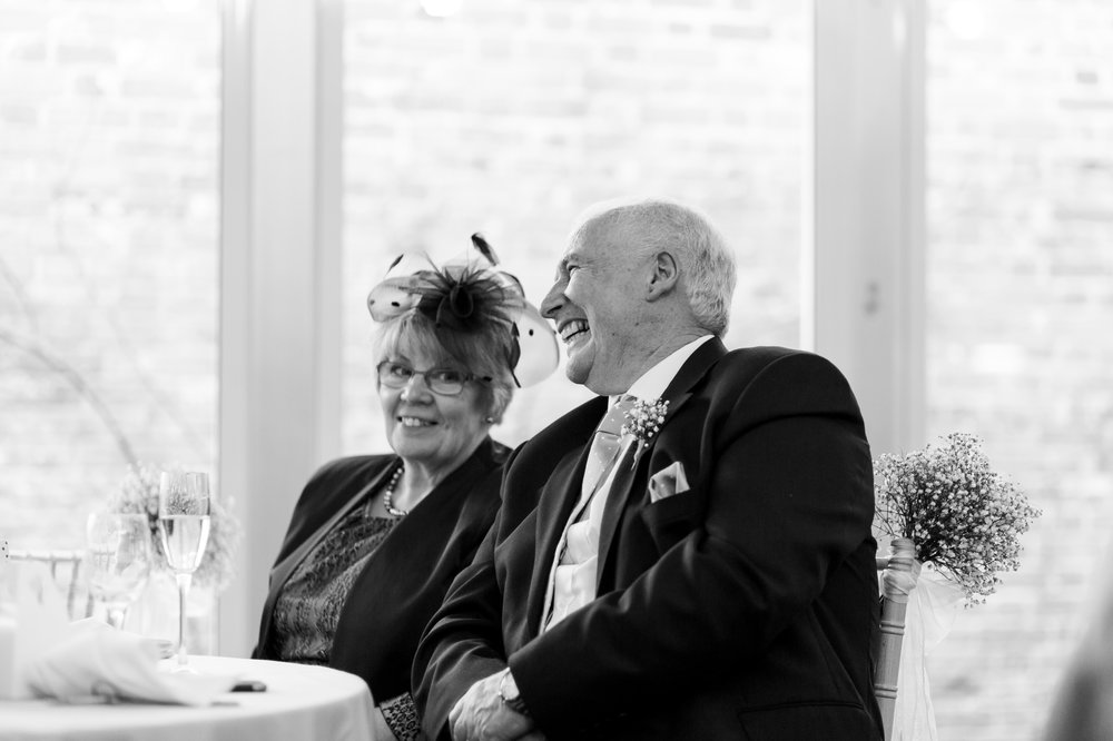 parents laughing at speeches