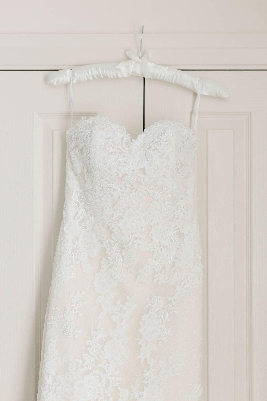 pronovias lace wedding dress