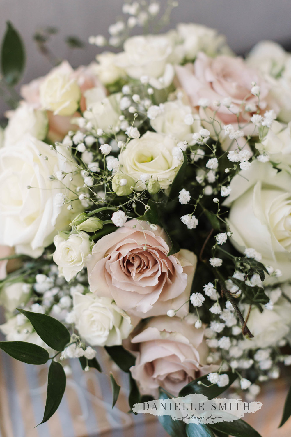 blush pink and ivory wedding flowers