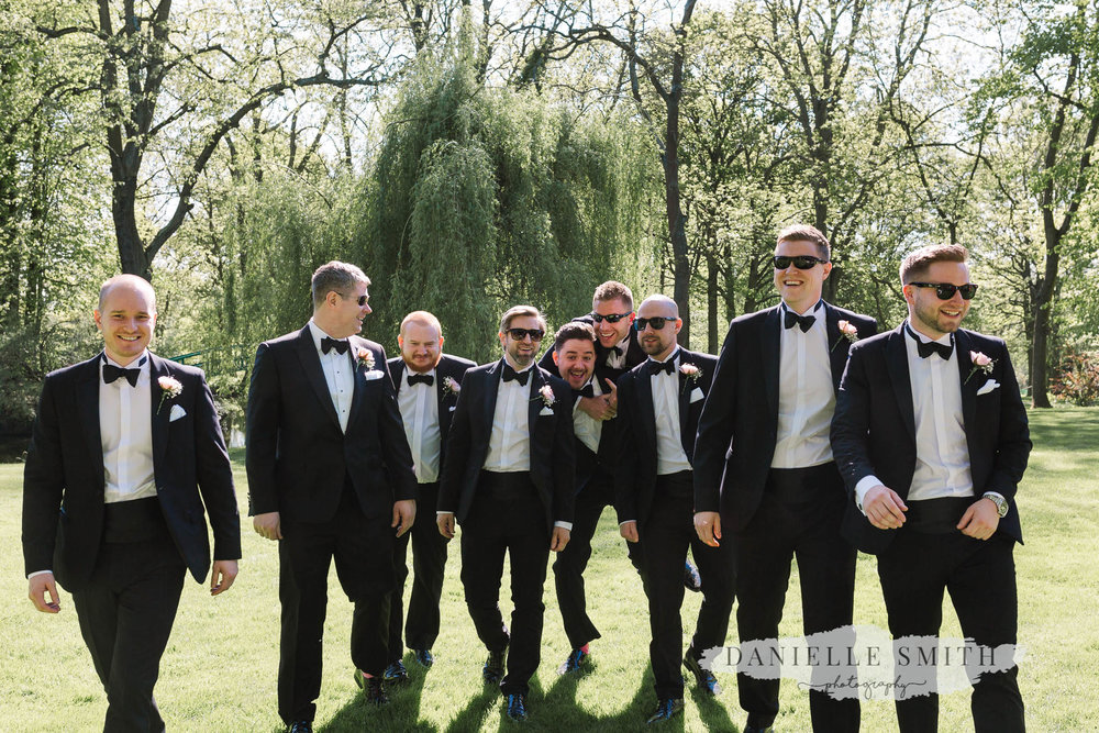 groomsmen - elegant and romantic black tie wedding at mulberry house