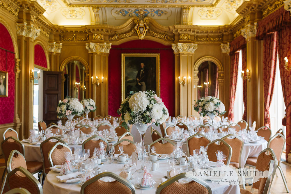 Country Estate Spring Wedding at Hylands House - reception room