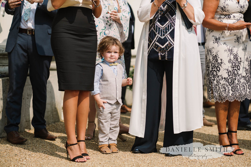 little boy at wedding