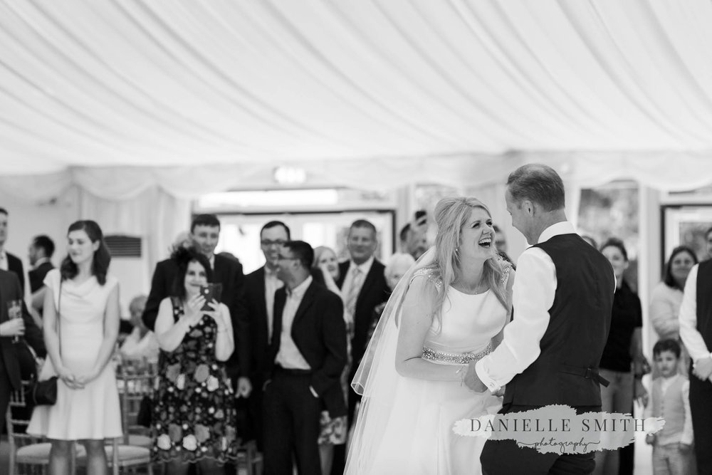 bride and grooms first dance at hylands house