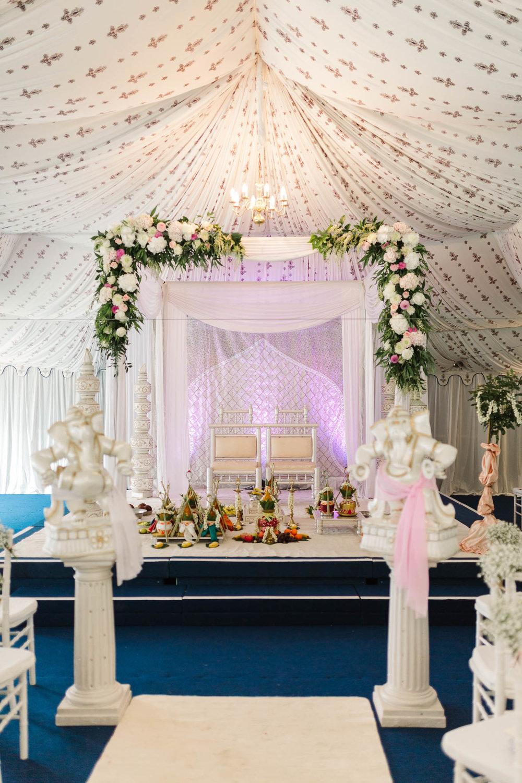 indian wedding ceremony set up
