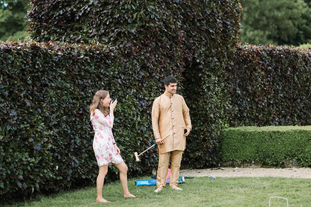 gardens games at wedding
