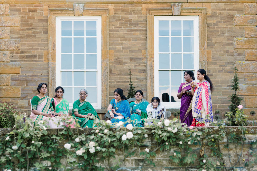 indian aunties at Poundon House wedding