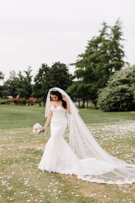 bride at brewerstreet farmhouse wedding