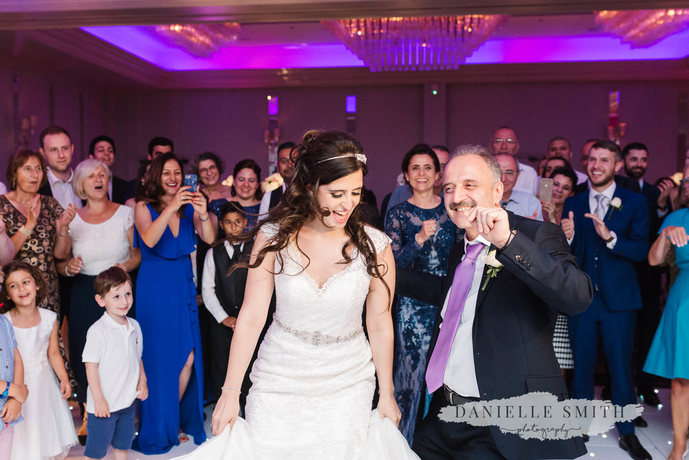 father and daughter dance at turkish wedding