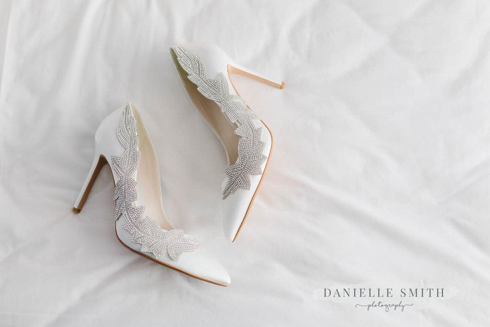 embellished ivory wedding shoes