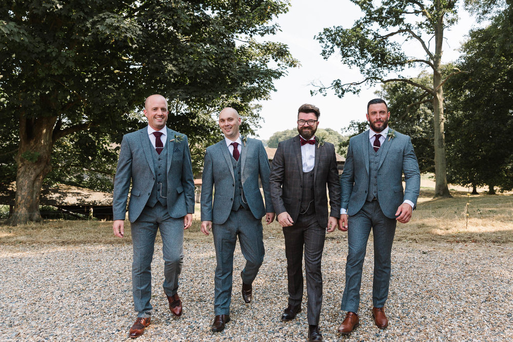 groomsmen in tweed suits - ENGLISH COUNTRY WEDDING AT SWARLING MANOR