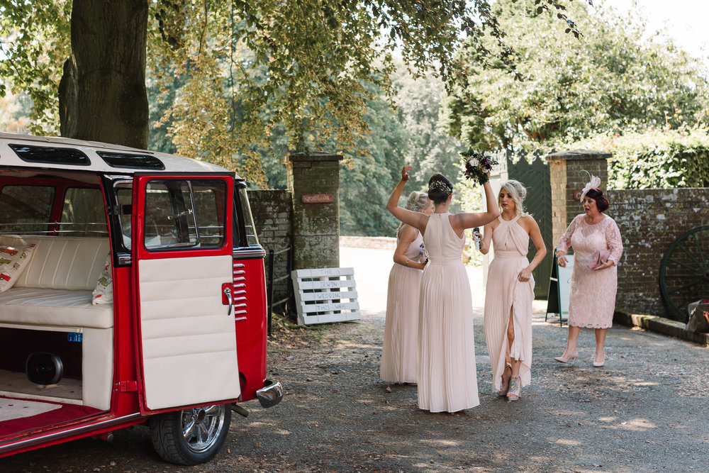 bridesmaids spraying deodorant - ENGLISH COUNTRY WEDDING AT SWARLING MANOR