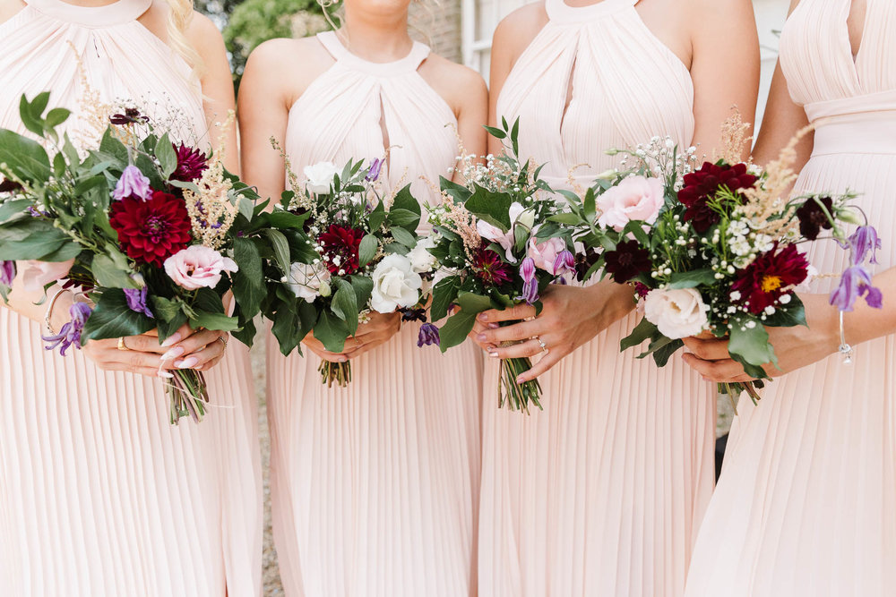 ENGLISH COUNTRY WEDDING AT SWARLING MANOR - bridesmaids bouquets