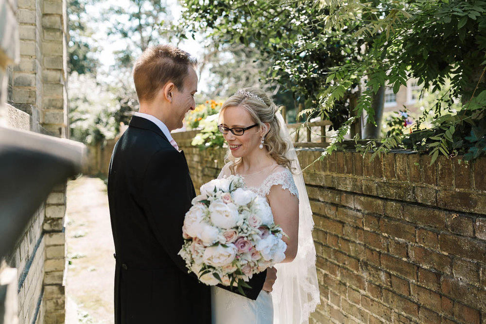 bride and groom together - Fun Country House Wedding