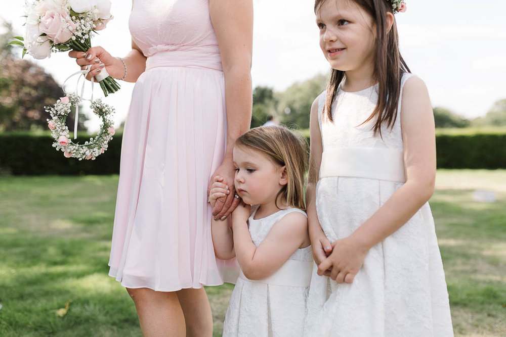 flower girls at Fun Country House Wedding