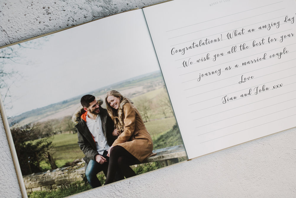 couple photo in signing book