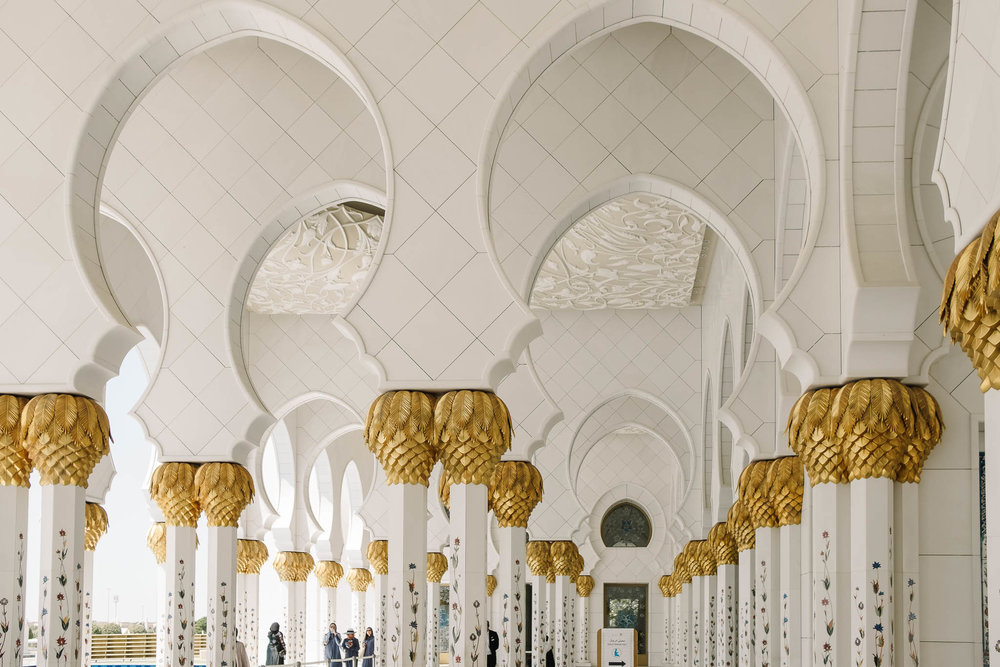 ornate columns in sheikh zayed