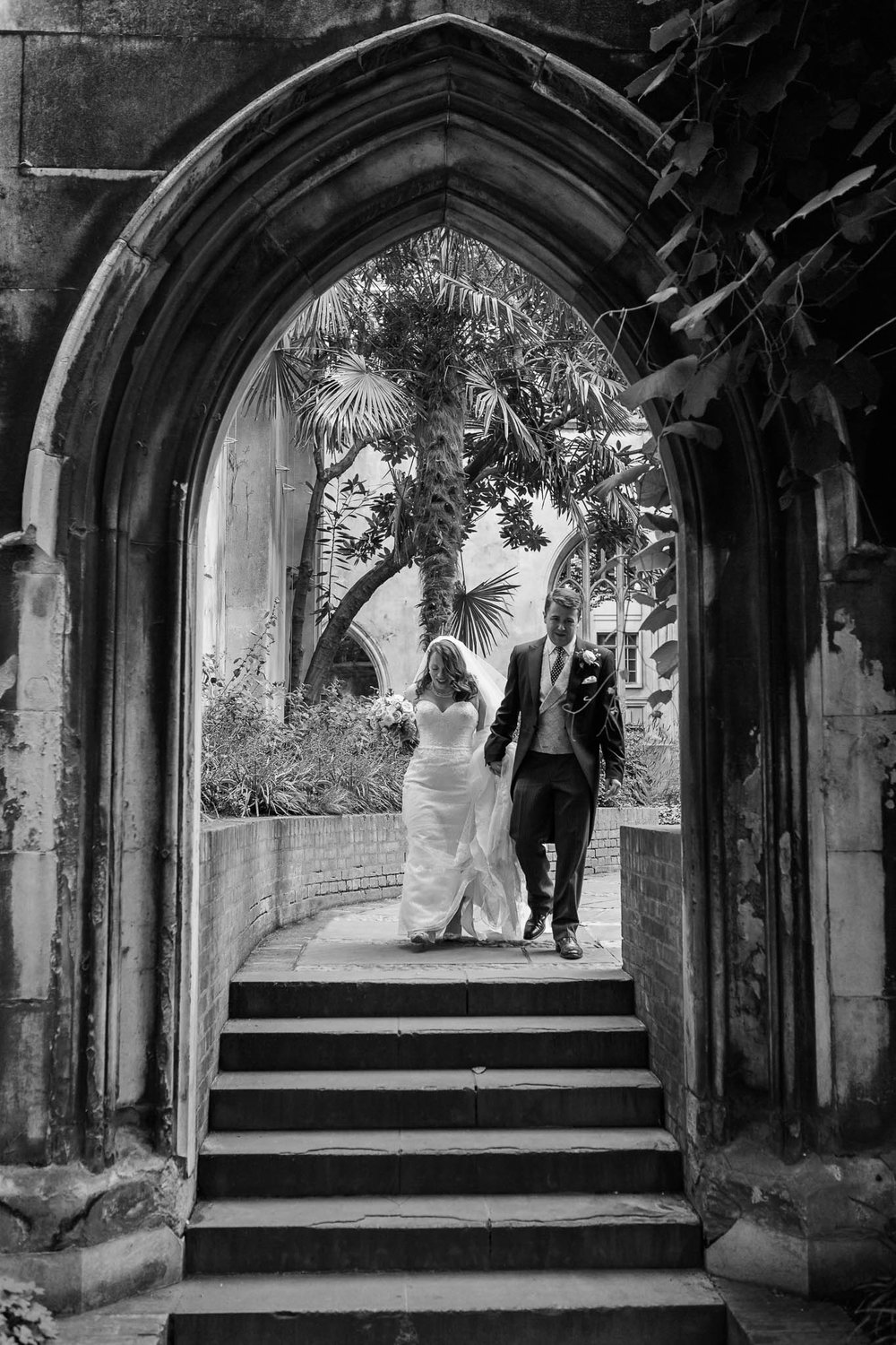 St Dunstan in the East - Image by me- See full wedding gallery at  St Dunstan in the East here.