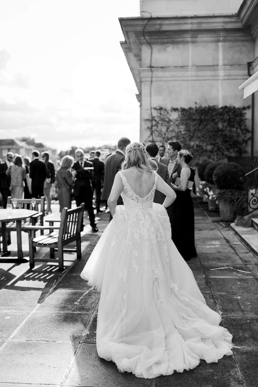 The RAC club's beautiful roof terrace for hire. Image by me- See full wedding at  The RAC Club here