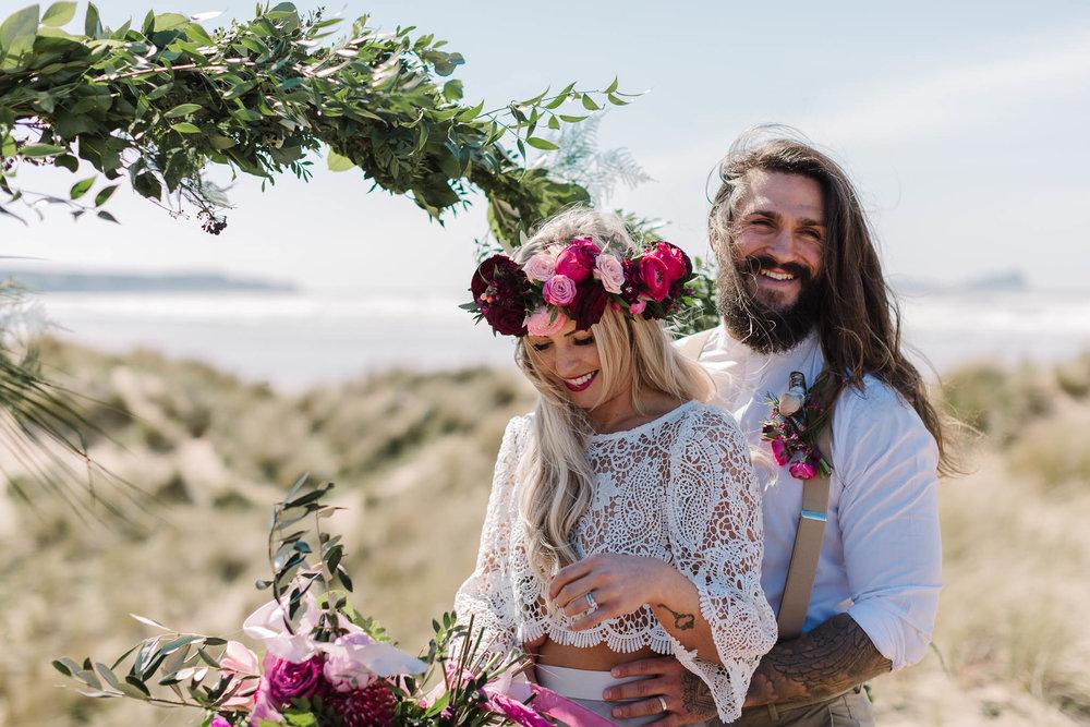 Wedding Photography on the Beach- bride and groom