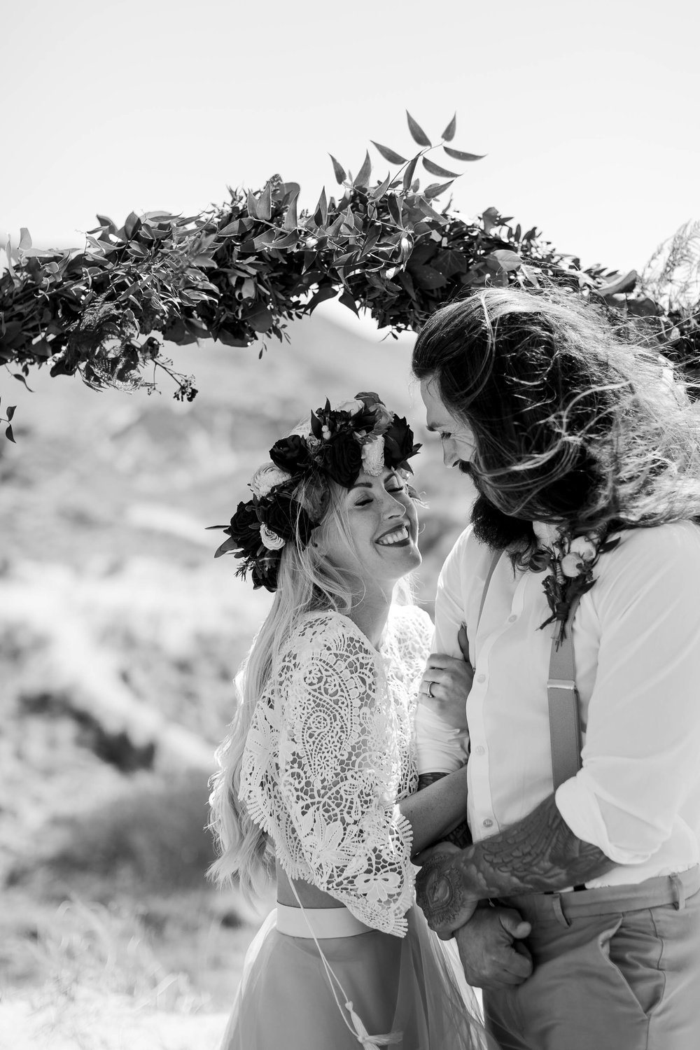 Wedding Photography on the Beach- couple laughing