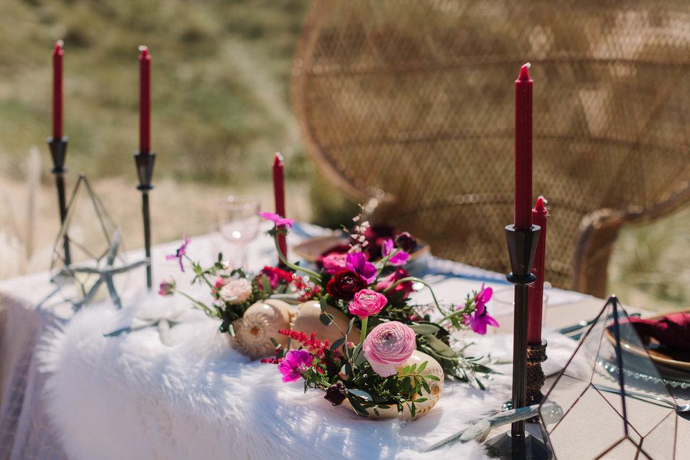 beach style table decor for wedding