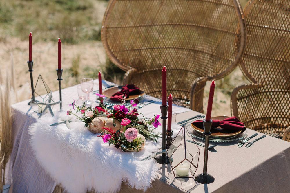 beach style wedding decor
