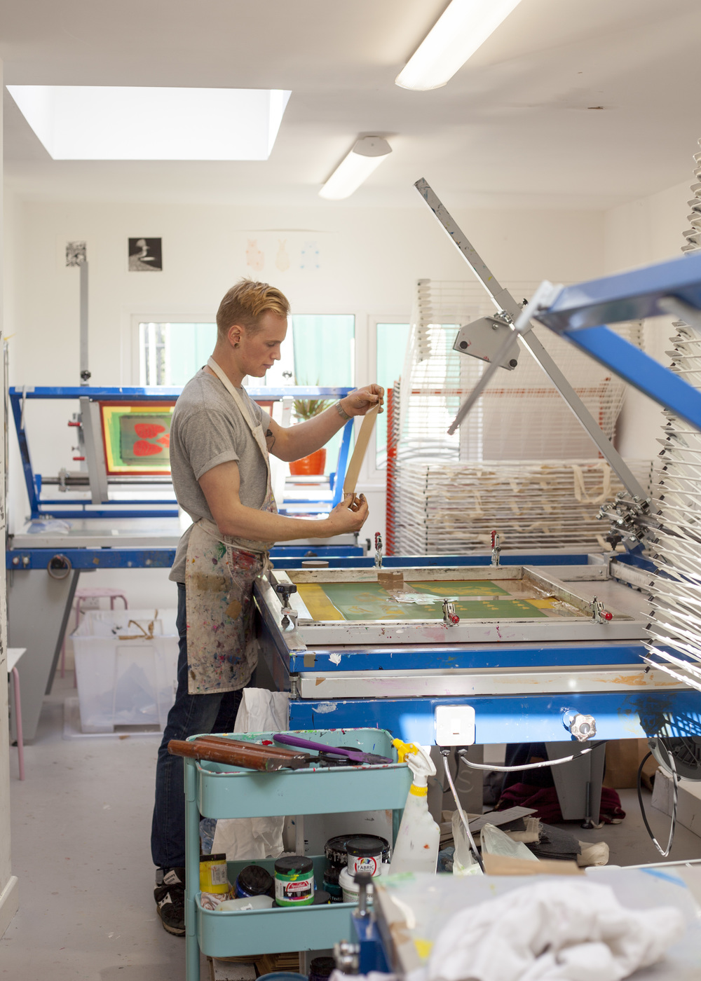 Printing at Squeegie and Ink Studios