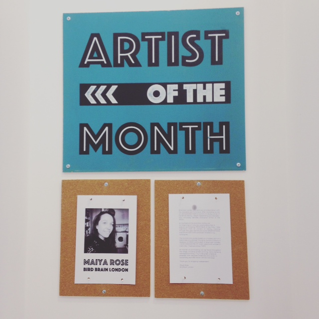 Blog Post- Artist of the Month