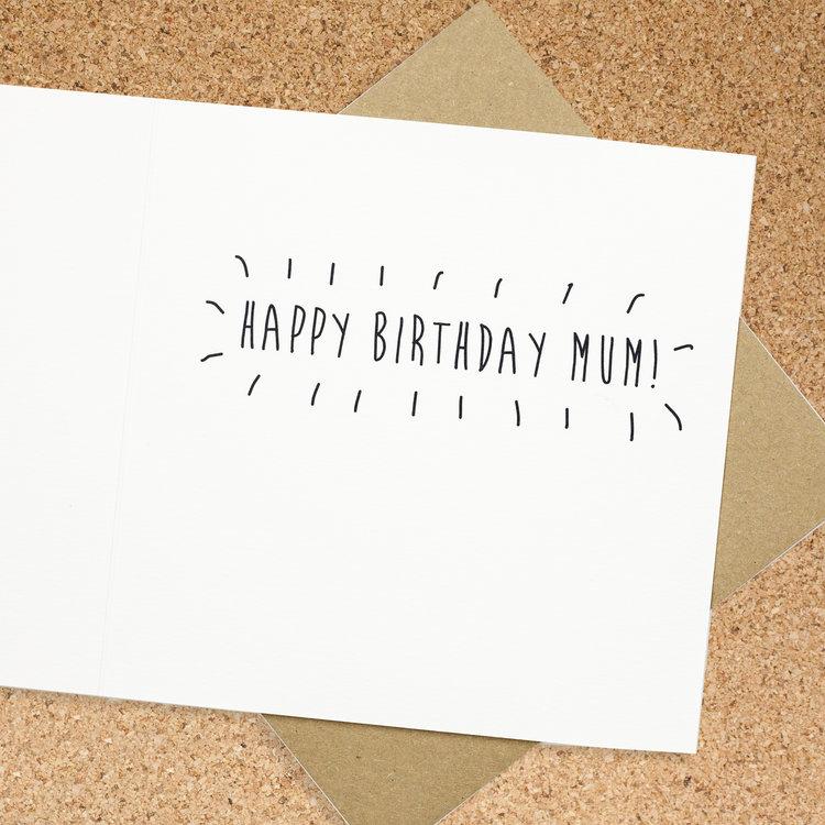 Mums Funny Birds Birthday Card Bird Brain London