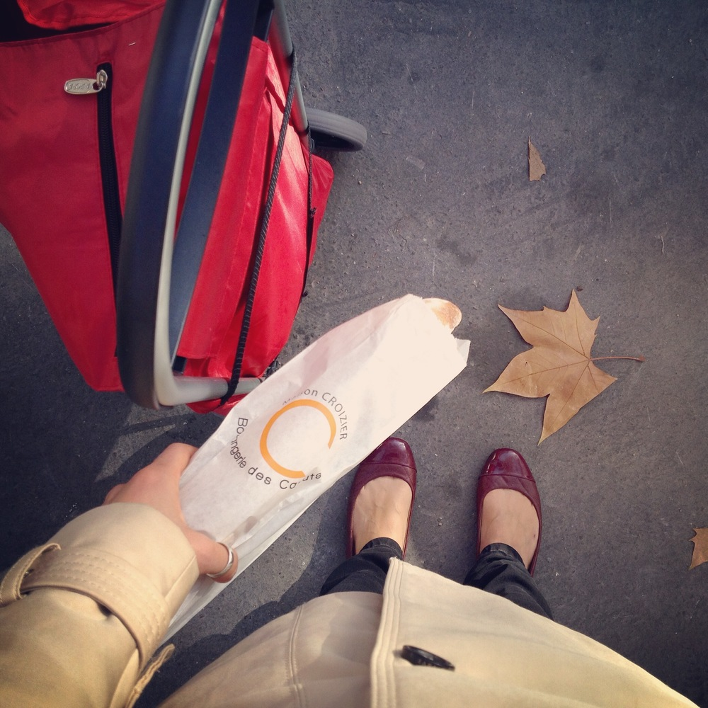 Note: the no-eating-on-the-go rule doesn't apply to baguettes.