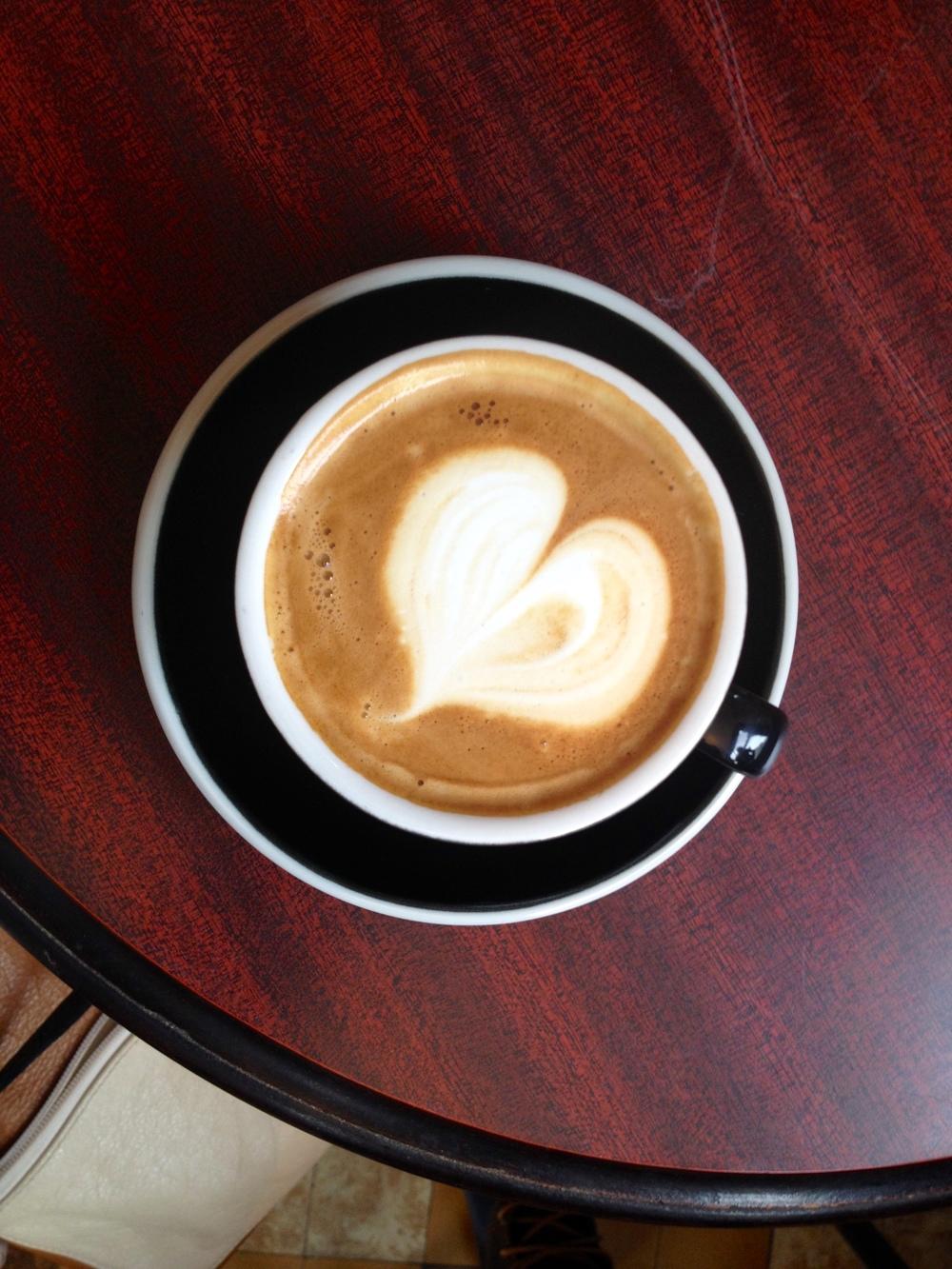The requisite latte shot.