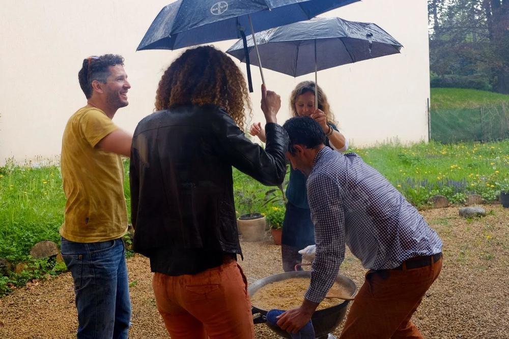 Teamwork!  Photo by Anne Mandron.