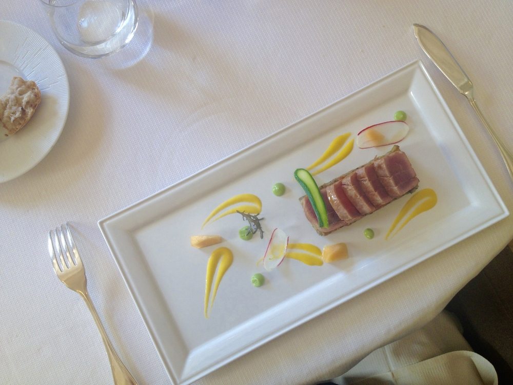 Tuna with ratatouille