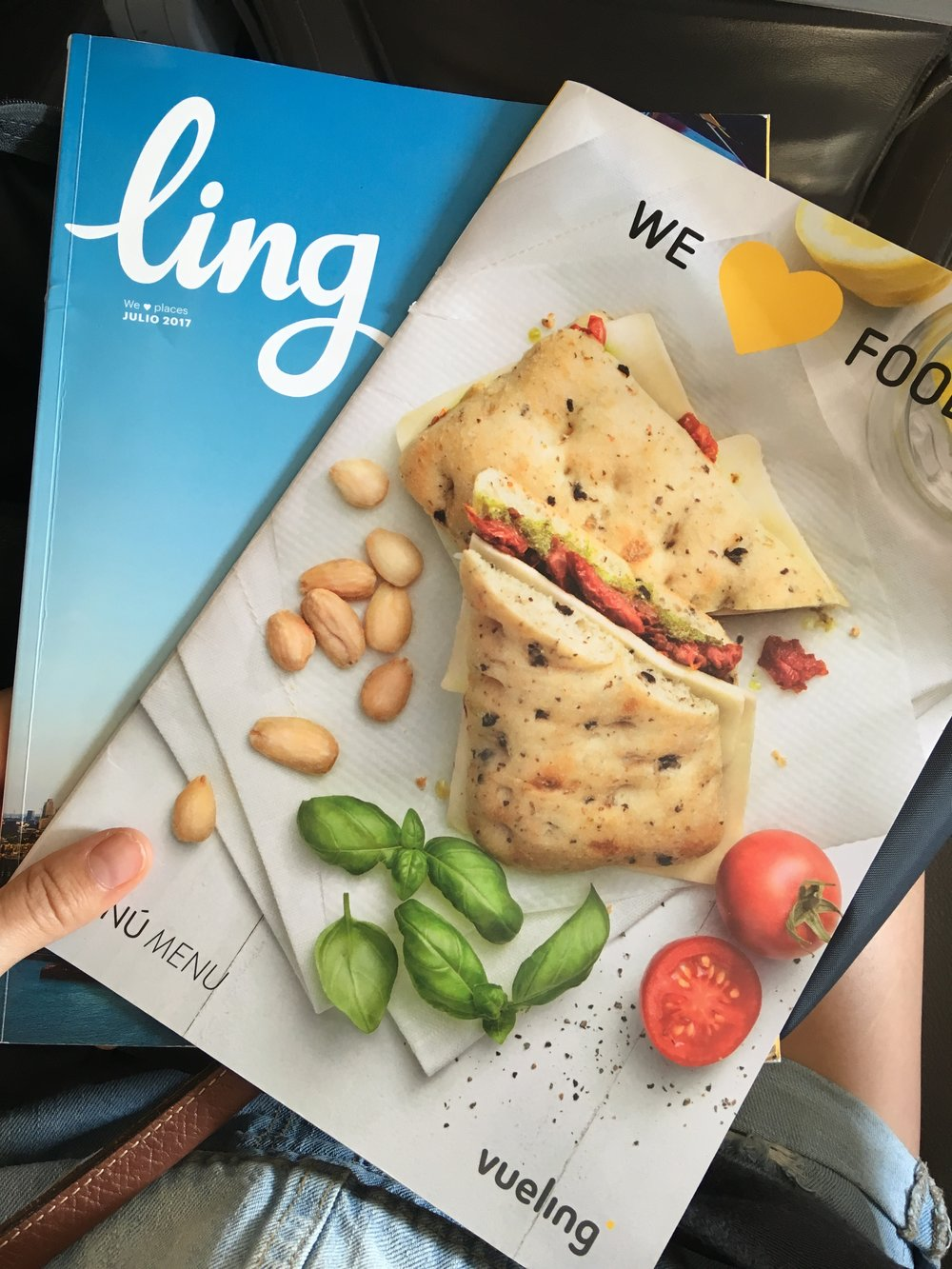 Vueling in-flight reading material: can you tell the menu from the magazine? So editorial!