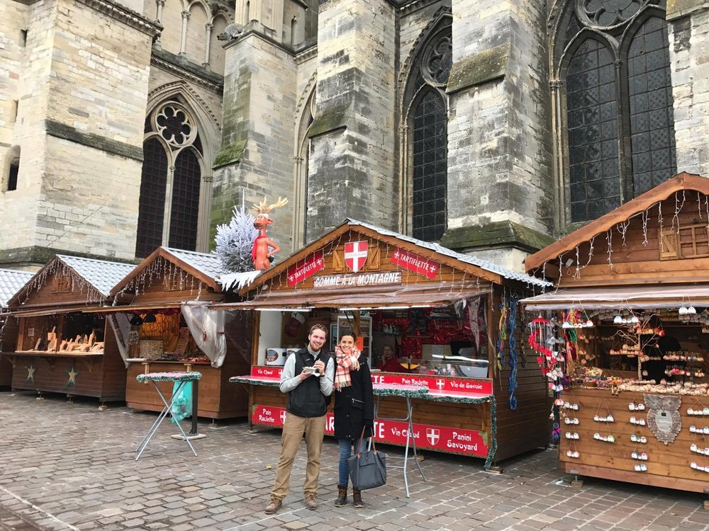 Bonus: if you happen to visit over the holidays like we did, there is THE cutest Christmas market (and there are a lot of those in Europe) with the cathedral as a picture-perfect backdrop.