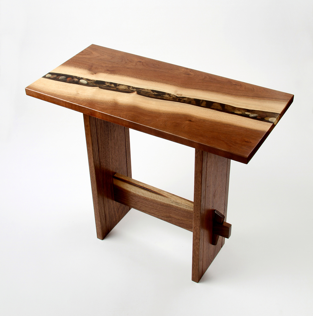 Wedge End Table by Eau Claire Woodworks