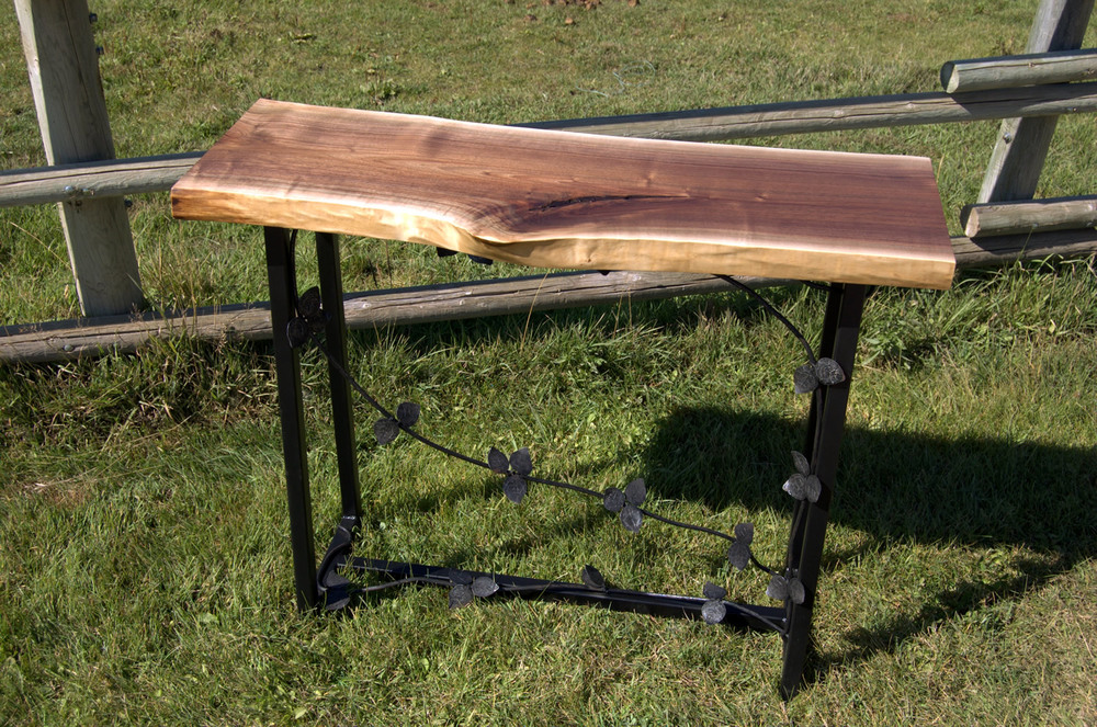 Vineyard Console Table by Eau Claire Woodworks